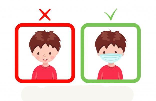 طرز صحیح استفاده از ماسک کودک