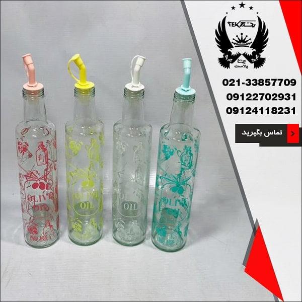 فروش بطری روغن ریز شیشه گران مدل زیبا